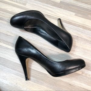 Franco Sarato |  Black Leather Comfortable Pumps 9